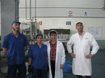 Parte del equipo de calidad de Libby´s Canarias